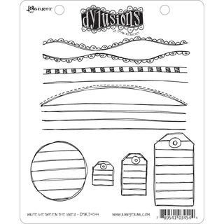 Dyan Reaveley's Dylusions Cling Stamp Collection-Write Between The Lines