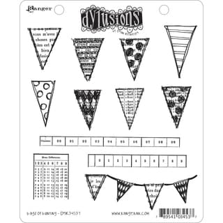 Dyan Reaveley's Dylusions Cling Stamp Collection-Bags Of Bunting