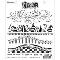 Dyan Reaveley's Dylusions Cling Stamp Collection-Further Around The Edge