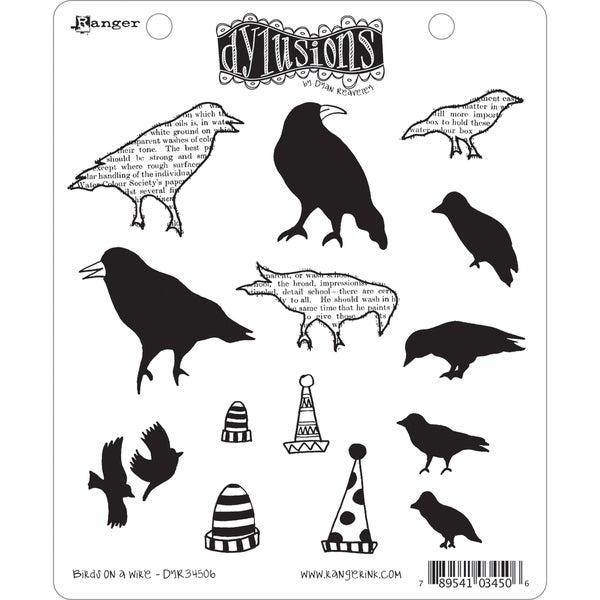 Dyan Reaveley's Dylusions Cling Stamp Collection-Birds On A Wire