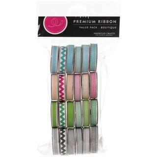 "Value Pack Premium Ribbon 24 Spools (.375""X4 Feet Each)-Boutique"