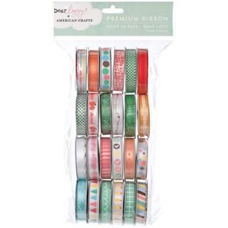 """Value Pack Premium Ribbon 24 Spools (.375""""X4 Feet Each)-Dear Lizzy"""
