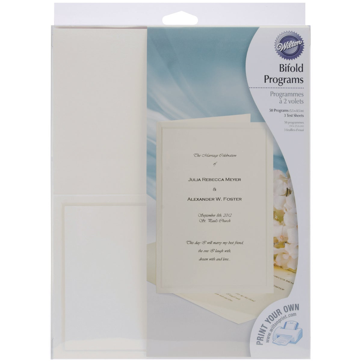 shop bi fold invitations 50 pkg keeping with tradition free