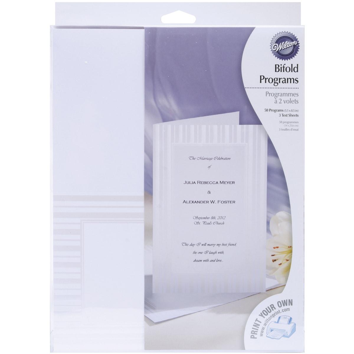 Bi-Fold Programs 50/Pkg-Simple Yet Elegant