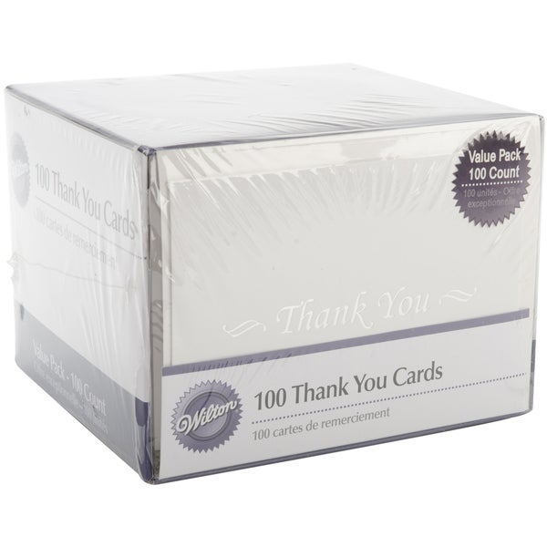 Shop Thank You Cards Box Set Pack Of 100 Free Shipping On Orders