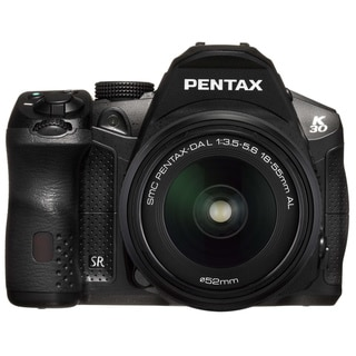 Pentax K-30 Black 16MP CMOS Digital SLR Camera with 18-55mm Lens