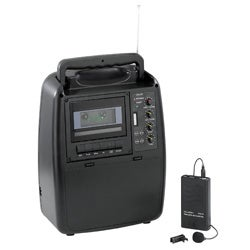 Portable Wireless PA System with Cassette Recorder