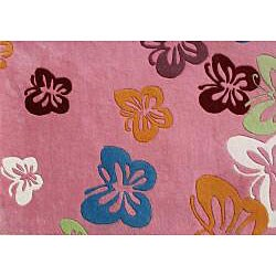 Alliyah Handmade Pink New Zealand Blend Wool Rug  (8'x10') - Thumbnail 2