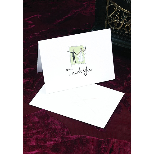 Hortense B. Hewitt Contemporary Couple Thank You Cards (Set of 50)