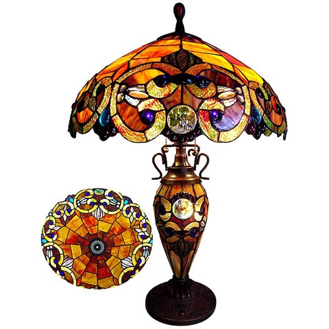 Chloe Tiffany Style Victorian Design 2-light Table Lamp