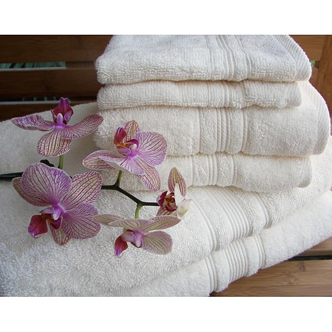 Charisma Ivory Cream Premium Hygro Cotton 12-piece Towel Set