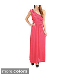 Stanzino Women's 'Grecian' Long Dress with Stone Details