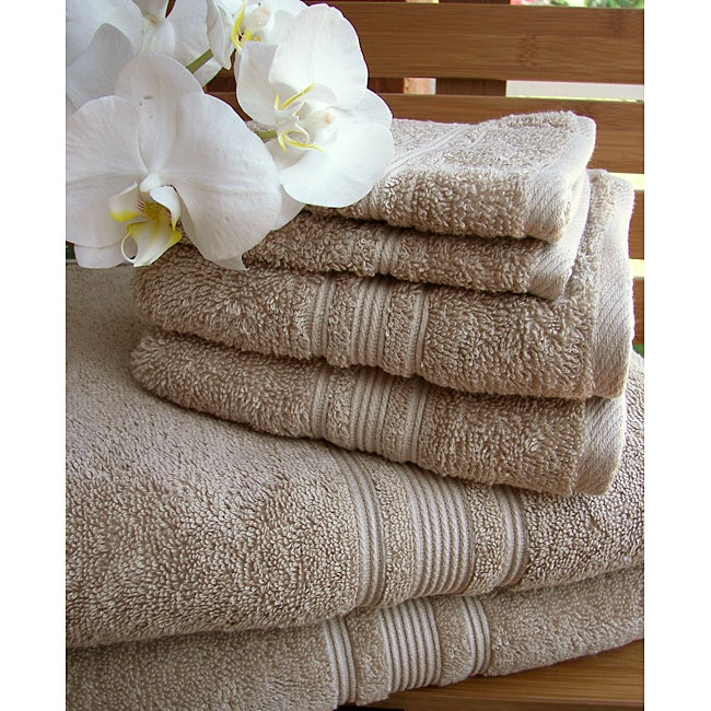 Charisma Linen Beige Premium Hygro Cotton 18-piece Towel Set - Thumbnail 0