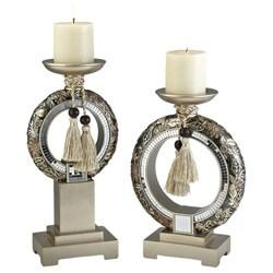 Chrysanthemum Candleholder Set