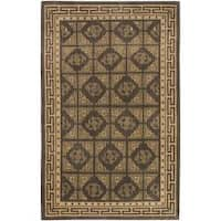 Hand-knotted Multicolored Oconto Hand-carded New Zealand Wool Area Rug - 8' X 11'