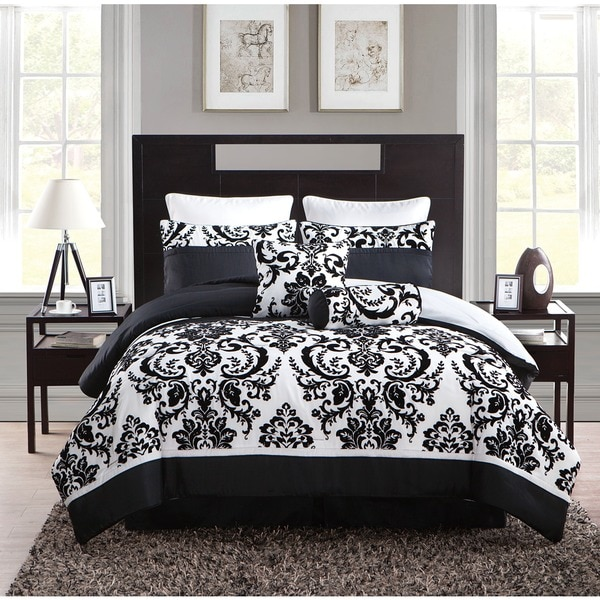 VCNY Daniella Flocked 8-piece Comforter Set