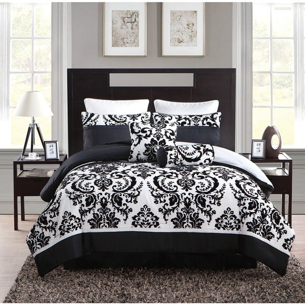 Shop VCNY Daniella Flocked 8-piece Comforter Set