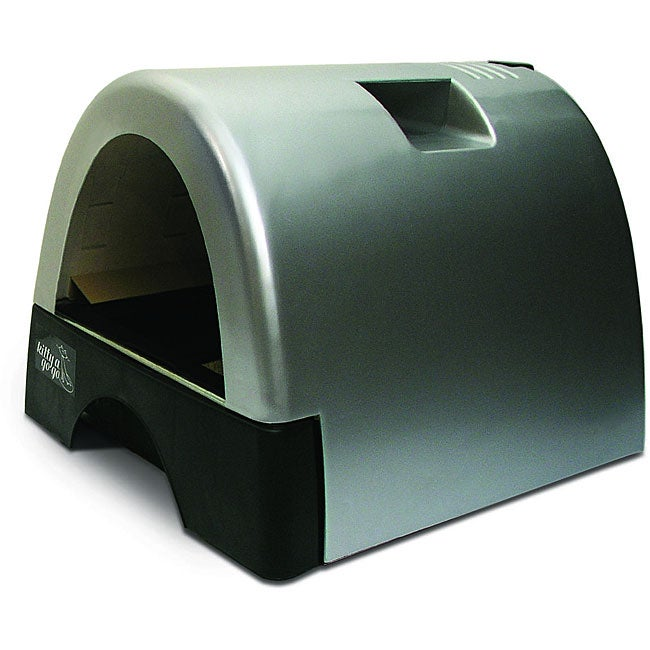 Kitty a gogo silver metallic designer cat litter box free shipping today - Modern kitty litter box ...