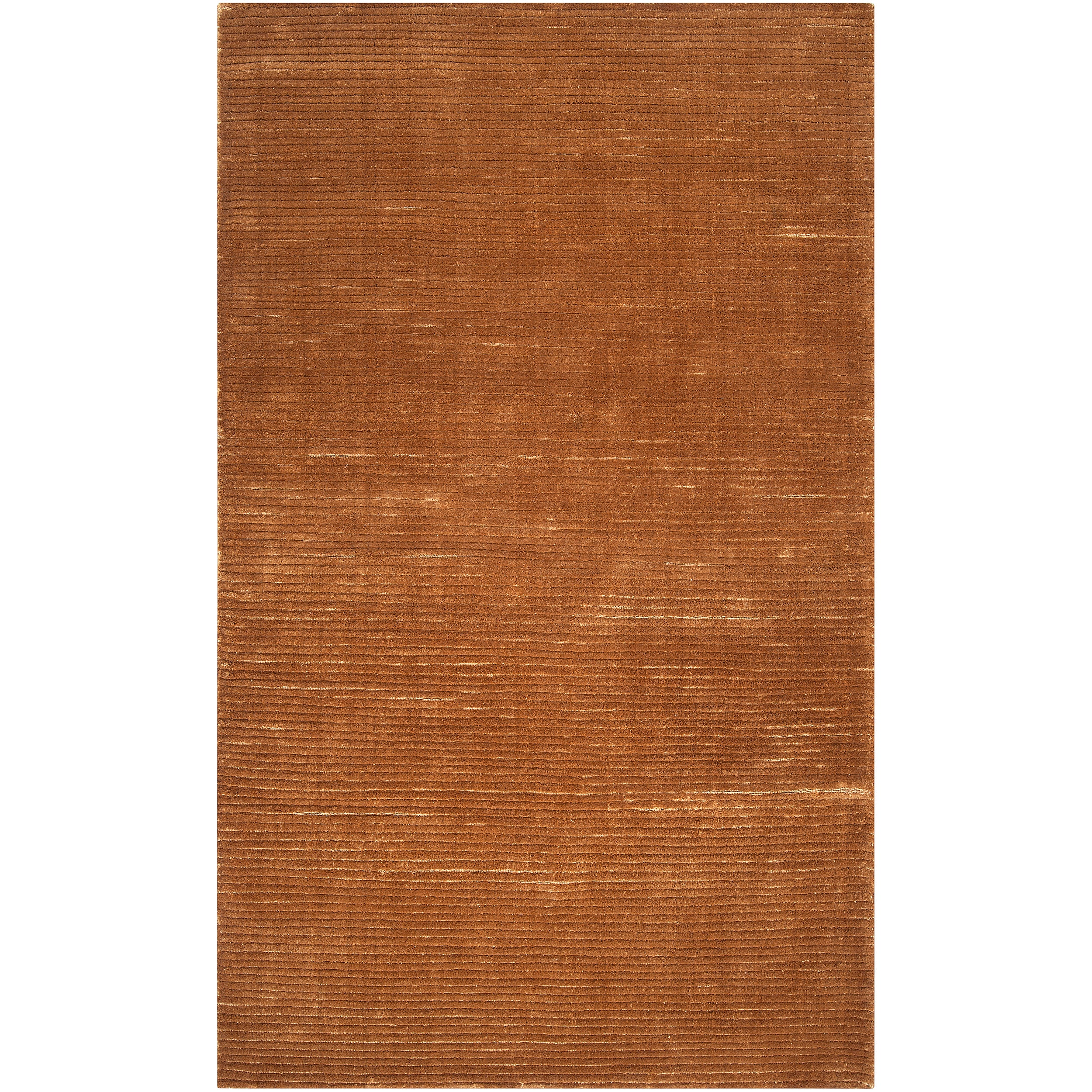 Hand-woven Solid Golden Brown Casual Portage Rug (2' x 3')