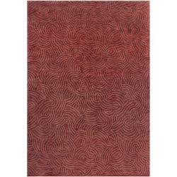 Hand-Knotted Multicolored Vilas Contemporary Abstract-Design Wool Area Rug - 5' x 8' - Thumbnail 0