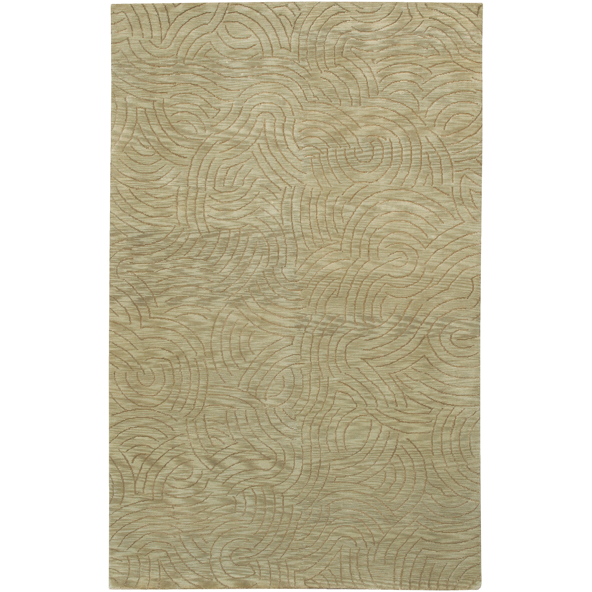 Hand-Knotted Multicolored Vilas Abstract-Design Wool Area Rug (5' x 8')