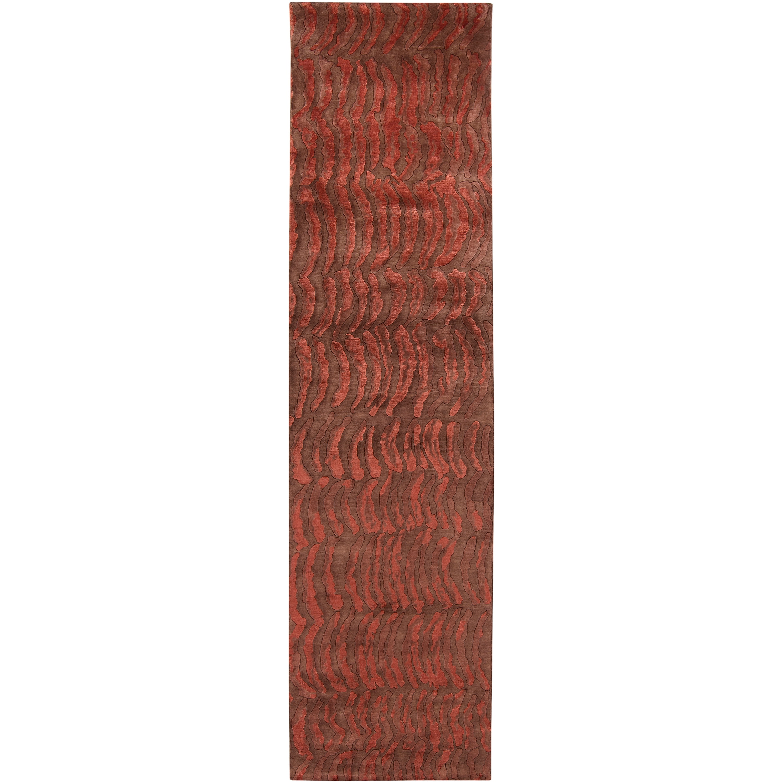 Contemporary Hand-knotted Multicolored Vilas Abstract Design Wool Rug (2 '6 x 10')