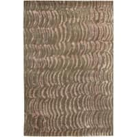 Hand-Knotted Multicolored Vilas Abstract-Design New Zealand Wool Area Rug - 5' x 8'