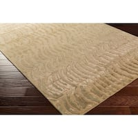 Hand-knotted Multicolored Vilas Abstract Design Semi-Worsted Wool Area Rug - 2'6 x 10'