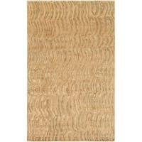 Hand-Knotted Multicolored Vilas Abstract-Design RecBeigegular Wool Area Rug - 5' x 8'