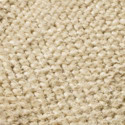 Hand-woven White Bristol Wool Shag Rug (2' x 3')
