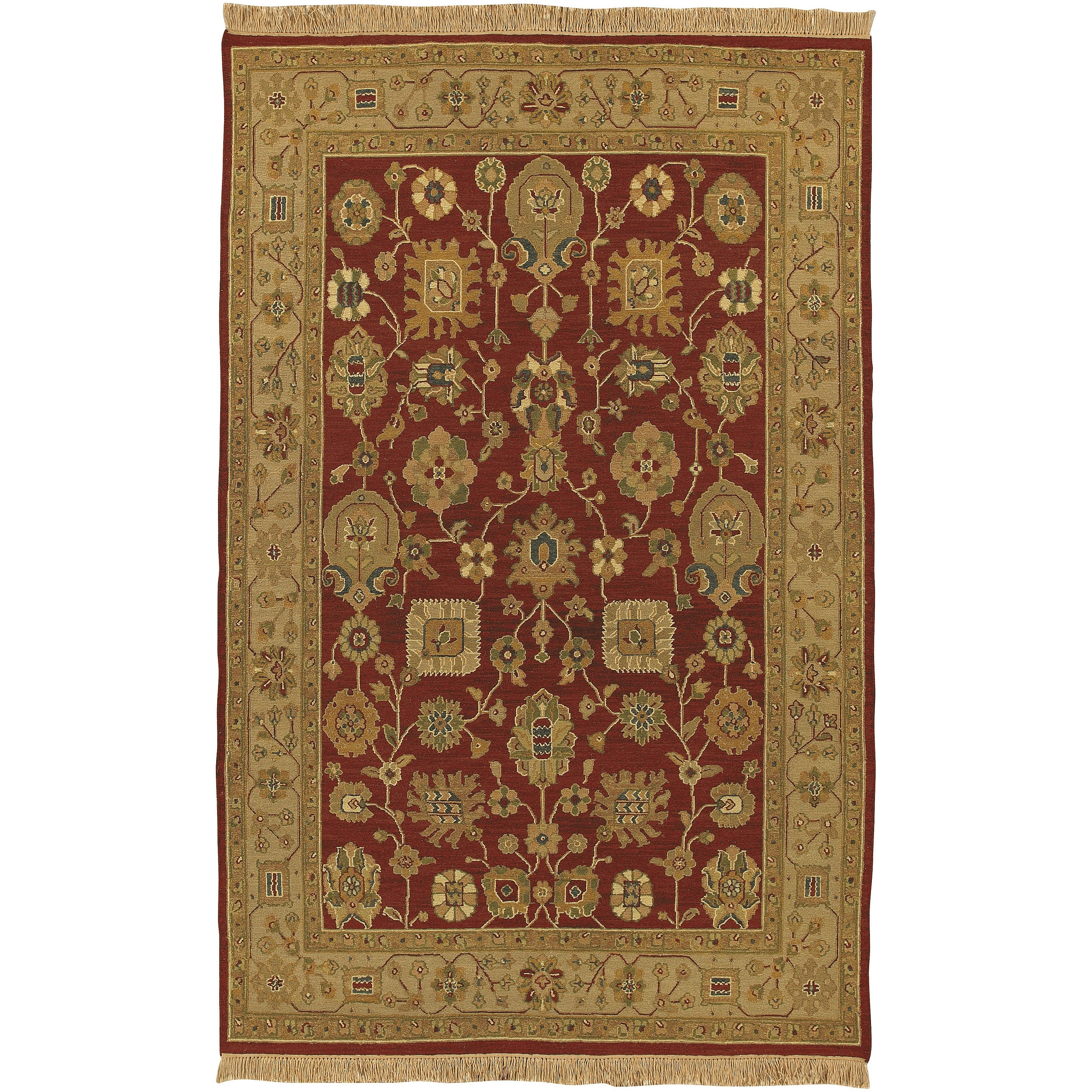 Hand-Knotted Multicolored Bristol Semi-Worsted New Zealand Wool Area Rug (6' x 9')
