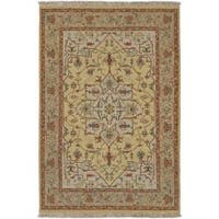 Hand-knotted Multicolored Bristol Semi-Worsted New Zealand Wool Area Rug - 2' x 3'
