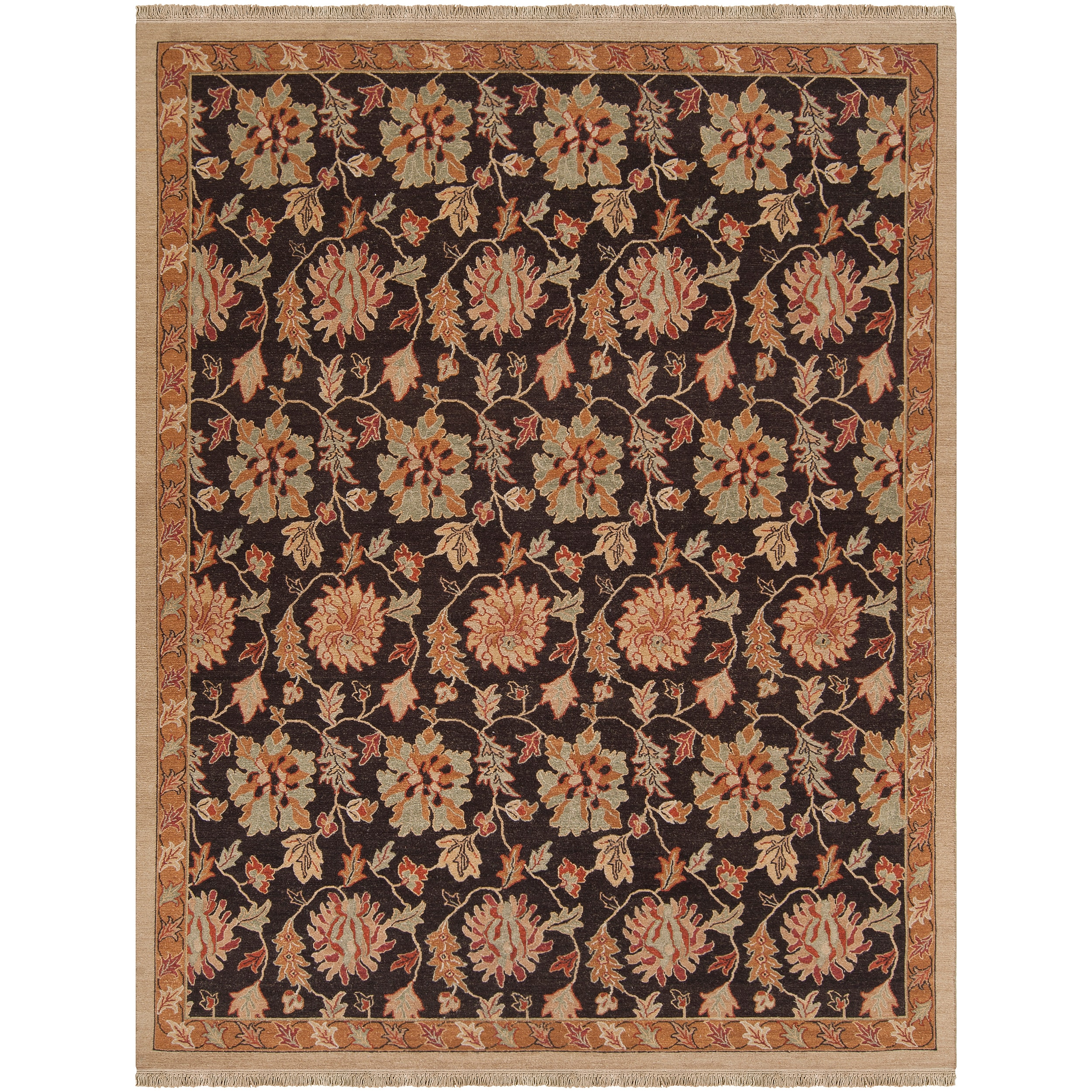 Hand-knotted Multicolored Bristol New Zealand Wool Rug (9' x 12')