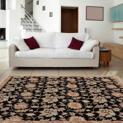 Hand-knotted Multicolored Bristol New Zealand Wool Rug (9' x 12') - Thumbnail 2