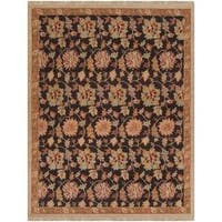 Hand-knotted Multicolored Bristol New Zealand Wool Area Rug (9' x 12')