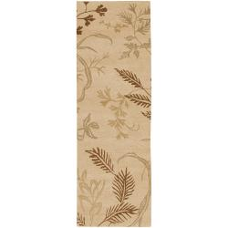 """Transitional Hand-Knotted Multicolored Haines Semi-Worsted New Zealand Wool Rug (2'6"""" x 10')"""