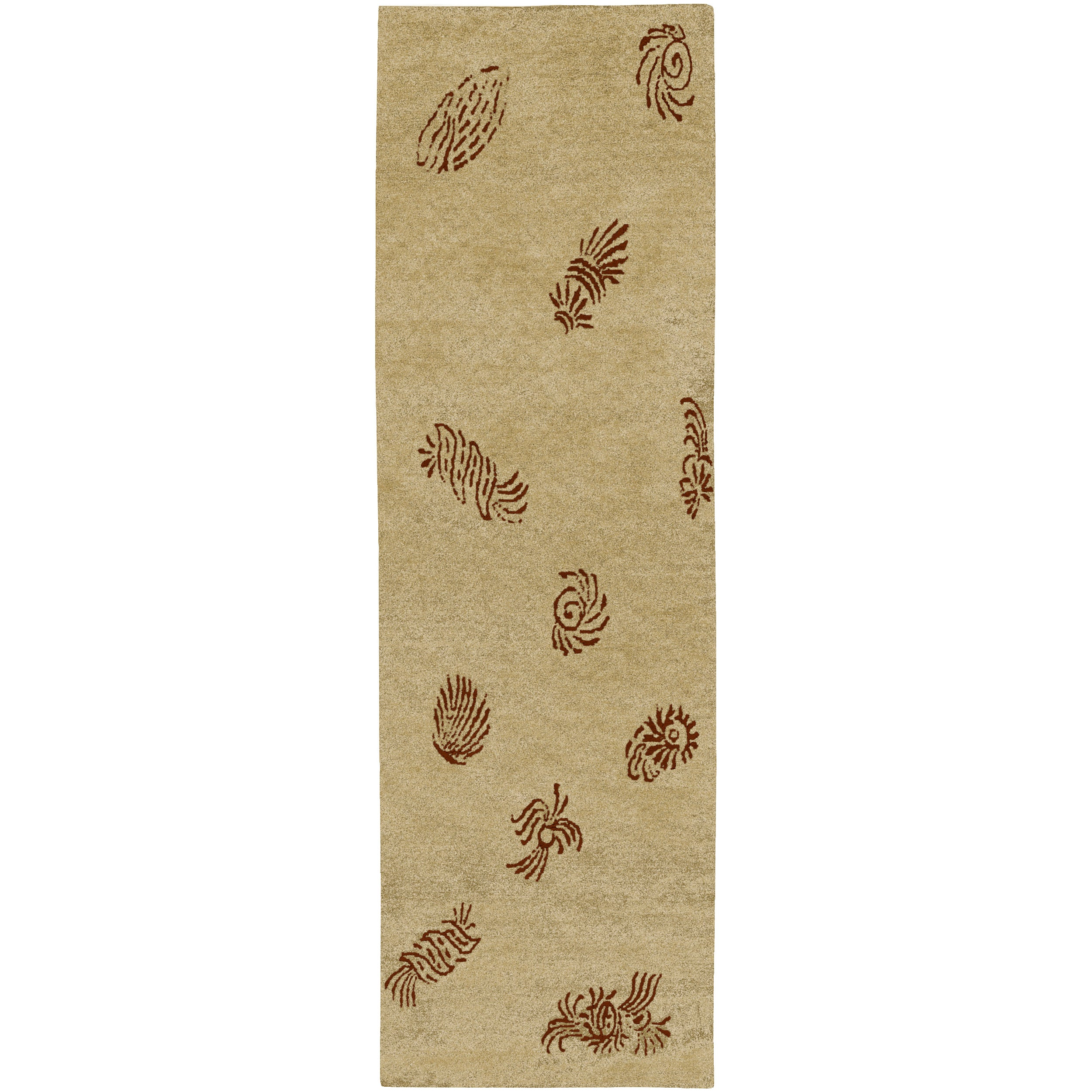 """Hand-Knotted Multicolored Haines Semi-Worsted New Zealand Wool Floral Rug (2'6"""" x 10')"""