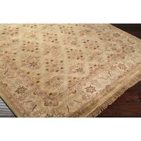 Traditional Hand-Knotted Multicolored Borough Semi-Worsted New Zealand Wool Area Rug - 2'6 x 8'