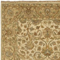 Hand-Knotted Multicolored Haines New Zealand Hard Twist Wool Area Rug (3'9 x 5'9)