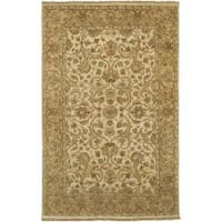 Hand-Knotted Multicolored Haines New Zealand Hard Twist Wool Area Rug - 3'9 x 5'9