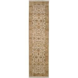 """Traditional Hand-Knotted Multicolored Haines New Zealand Hard Twist Wool Rug (2'6"""" x 10')"""