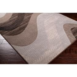 Woven Neutral Toned Haines Abstract Waves Rug (1'10 x 2'11) - Thumbnail 1