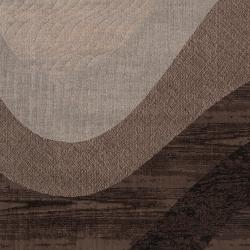 Woven Neutral Toned Haines Abstract Waves Rug (1'10 x 2'11) - Thumbnail 2