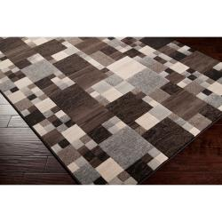 Woven Neutral Toned Haines Geometric Squares Rug (1'10 x 2'11) - Thumbnail 1