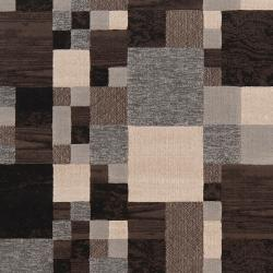 Woven Neutral Toned Haines Geometric Squares Rug (1'10 x 2'11) - Thumbnail 2
