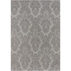 Hand-knotted Grey Haines New Zealand Wool Rug (2' x 3')