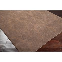 Hand-knotted Brown Haines New Zealand Wool Rug (8' x 11') - Thumbnail 1