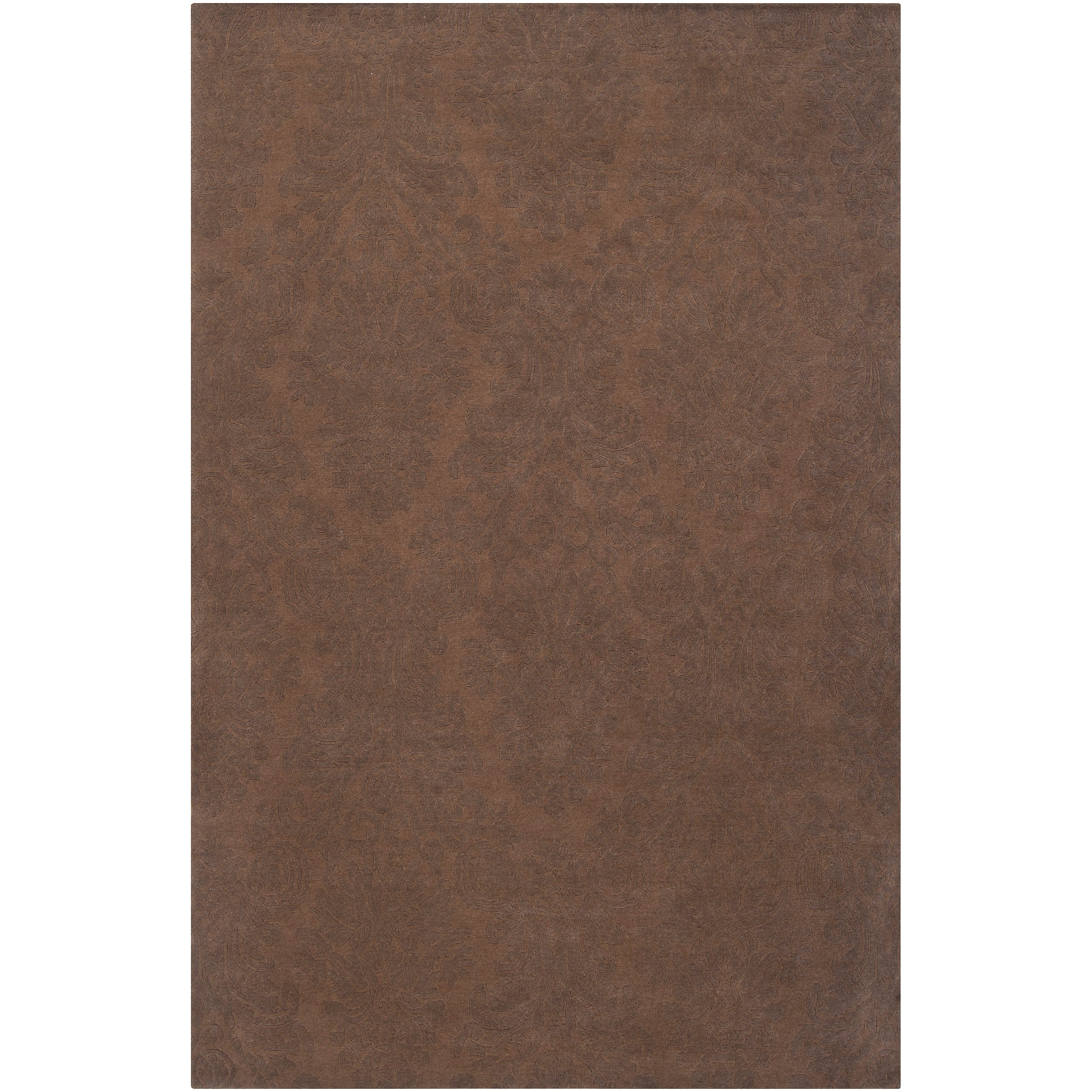 Hand-knotted Brown Haines New Zealand Wool Area Rug (9' x 13')