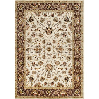 Alliyah Handmade Vanilla New Zealand Blend Wool Rug(8' x 10')