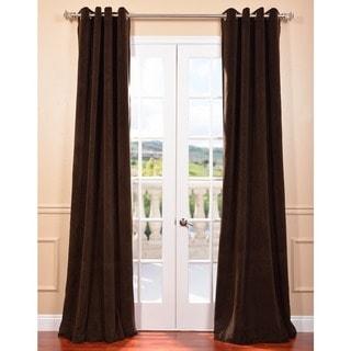 Exclusive Fabrics Java Grommet Velvet Blackout Curtain Panel
